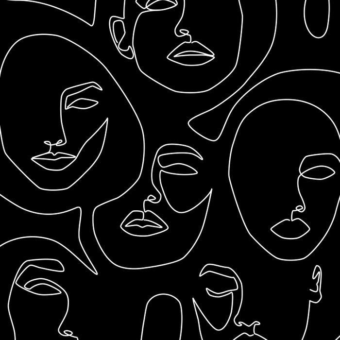 Faces in Dark Duvet Cover