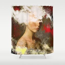 The woman without look Shower Curtain