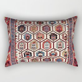 Daghestan Northeast Caucasus Prayer Rug Print Rectangular Pillow