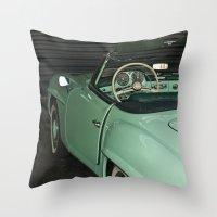car Throw Pillows featuring Car by Vlad&Lyubov