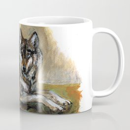 Carpathian wolf realistic (c) 2017 Coffee Mug