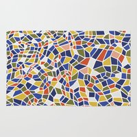 geo Area & Throw Rugs featuring geo by jennifer judd-mcgee