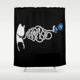 Squiggle Wiggle Writer Shower Curtain