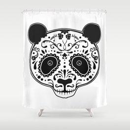 Dark Panda Shower Curtain