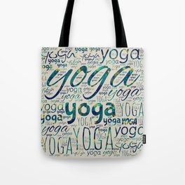 Yoga Pattern Teal Marble with gold  on canvas Tote Bag
