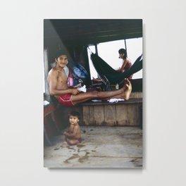 The Amazon Houseboat Metal Print