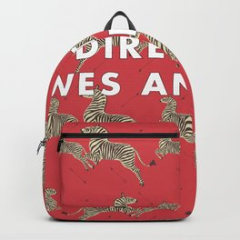 Directed By Wes Anderson - Zebra Wallpaper Backpack