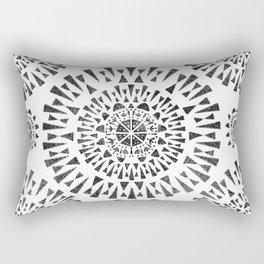Fireworks Circles Pattern Rectangular Pillow