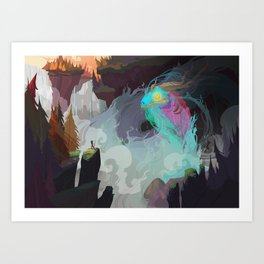Water Demon Art Print