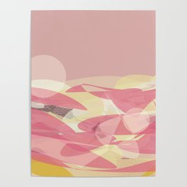 Pink Multi Layer Pattern Design Poster