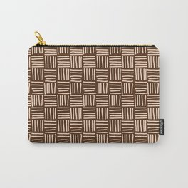Lines brown Carry-All Pouch