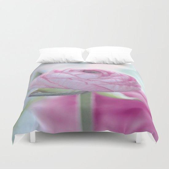 Tender flower (ranunculus) Duvet Cover