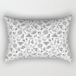 Modern Witch - White Rectangular Pillow