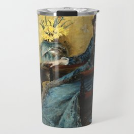 Portrait of Dora Wheeler - By William Merritt Chase Travel Mug