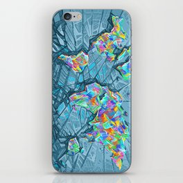 world map abstract 2 iPhone Skin
