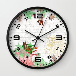 Christmas pine cones #1 Wall Clock