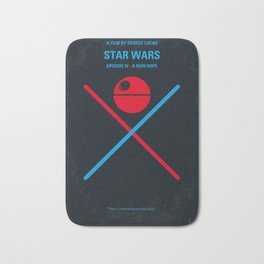 No154 My STAR Episode IV A New Hope WARS minimal movie poster Bath Mat