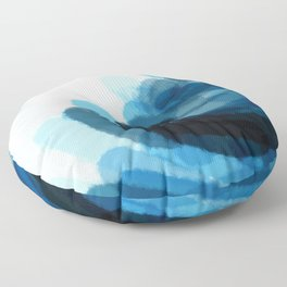 Sea Glass Stone Stack Abstract Floor Pillow