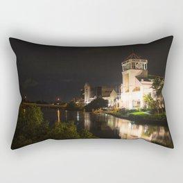 Night Time River Rectangular Pillow