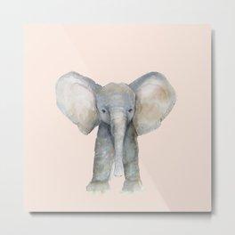 Baby elephant pink  Metal Print