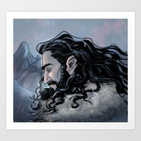thorin Art Prints featuring Thorin by Ammo