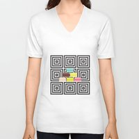macarons V-neck T-shirts featuring macarons by antoloxia