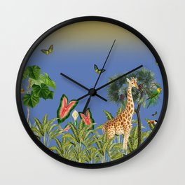 Exciting Fun And Exotic Jungle Theme Wall Clock