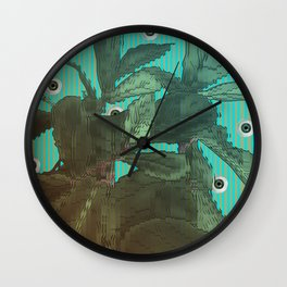 distorted plant sees everything Wall Clock
