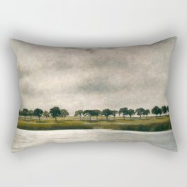 Afternoon Storm on the Coast and Salt Pond landscape by Vilhelm Hammershoi Rectangular Pillow