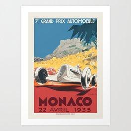 Formula 1 - 1935 Monaco Grand Prix Art Print