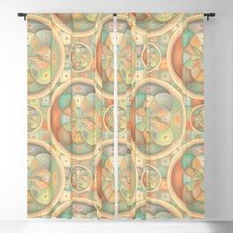 Complex geometric pattern Blackout Curtain