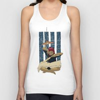 pocket fuel Tank Tops featuring Fuel for winter nights by Diana Stanciulescu