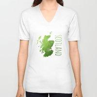 scotland V-neck T-shirts featuring Scotland by Stephanie Wittenburg