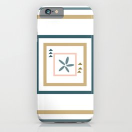 Abstract Medallion Quilt Art iPhone Case
