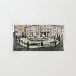 3 legged man in Piazza Navona Rome Italy Hand & Bath Towel