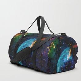 Blue Bubble Duffle Bag