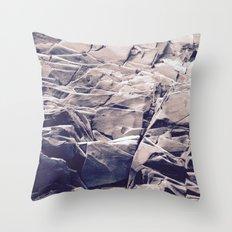 Cracked Rocks Purple Throw Pillow
