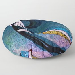 Classical Masterpiece 'In Powder and Crinoline' by Kay Nielsen Floor Pillow