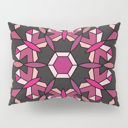 Moth's Crystal Snowflake - Red Version Pillow Sham