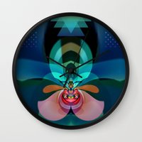 orchid Wall Clocks featuring Orchid by GypsYonic