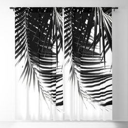 Palm Leaves Black & White Vibes #1 #tropical #decor #art #society6 Blackout Curtain