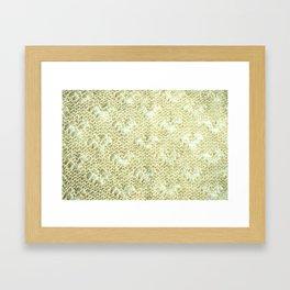 Lace knitting detail Framed Art Print