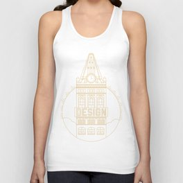 Oakland is Design (Gold) Unisex Tank Top