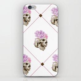 Skull tartan iPhone Skin