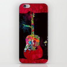 graphic guitar iPhone & iPod Skin