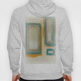 Soft And Bold Rothko Inspired - Modern Art - Teal Blue Orange Beige Hoody