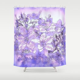 Christmas Bouquet in a purple haze Shower Curtain