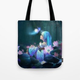 Blue Hair Vocaloid Tote Bag