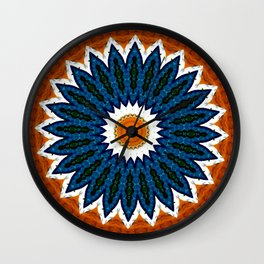 Mandala Gold and Blue Wall Clock