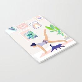 Girl Power Yoga pose Notebook